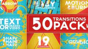 50 Transitions Pack with Opener