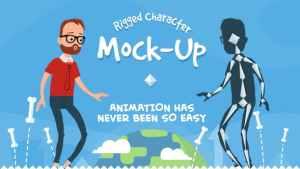 Rigmo - Rigged Character Animation Mockup