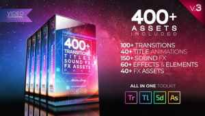 Video Assets Pack: Transitions, Titles, Sound FX