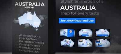 Australia Map Animation - Commonwealth of Australia Map Kit