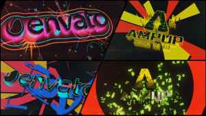Colorful Dubstep Projection Logo