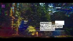 Glitch Modern Opener for Premiere Pro