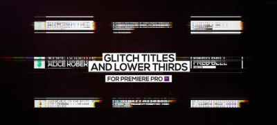 Glitch Titles and Lower Thirds for Premiere Pro