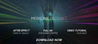 Medicine Product Promo / Titles Animations / Human Titles