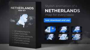 Netherlands Map Kit - Kingdom of the Netherlands Map