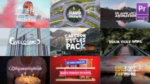 Cartoon Titles Pack | Premiere Pro MOGRT