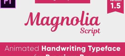 Magnolia - Animated Handwriting Typeface