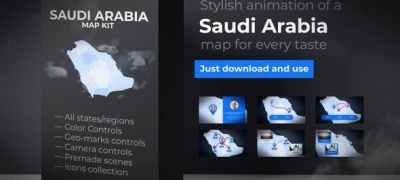 Saudi Arabia Map - Kingdom of Saudi Arabia Map Kit