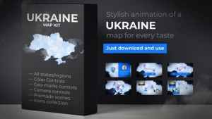 Ukraine Map - Ukraine UKR Map Kit