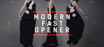 Modern Fast Opener / Dynamic Typography / Fashion Event Promo / Clean Stomp Rhythmic