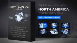 Map of North America with Countries - North America Map Kit