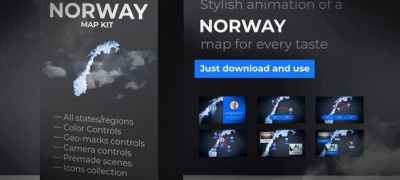 Norway Map - Kingdom of Norway Map Kit