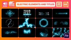 Cartoon Electricity And Titles | After Effects