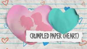 Crumpled Paper (Heart)