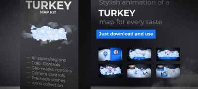 Turkey Map - Republic of Turkey Map Kit