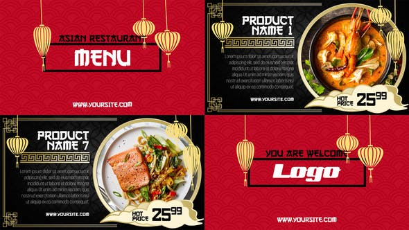Download Asian Menu – Restaurant Promo – FREE Videohive
