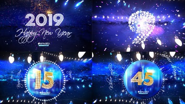 Download New Year Eve Party Countdown 2019 – FREE Videohive