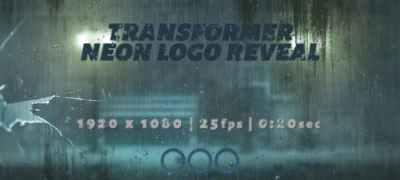 Transformer Neon Logo Reveal