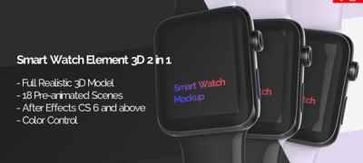 Smart Watch 3D Model Mockup - App Promo