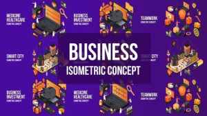 Business Investment- Isometric Concept