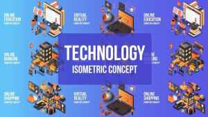 Future Technology - Isometric Concept