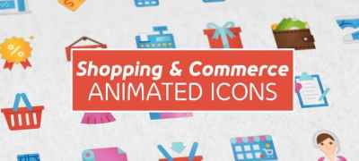 Shopping and Commerce Modern Flat Animated Icons