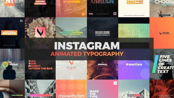 Download Instagram Typography – FREE Videohive