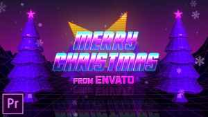 Retro 80s Christmas Wishes - Premiere Pro