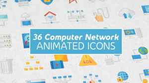 Computer Network Modern Flat Animated Icons