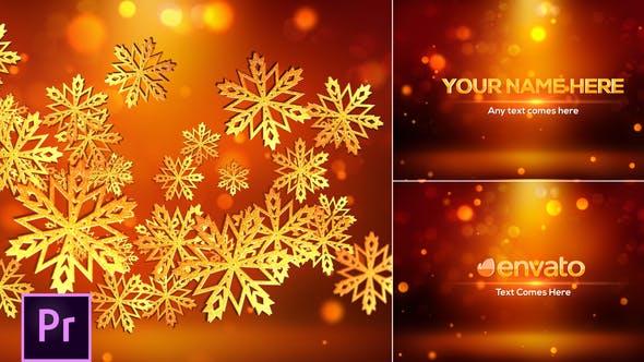 Download Snowflakes Logo – Premiere Pro – FREE Videohive