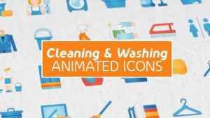 Cleaning & Washing Modern Flat Animated Icons