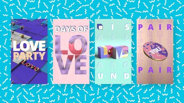 Download Colorful Love Stories – FREE Videohive