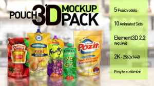 Pouch 3D Mockup Pack