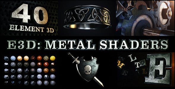 Download E3D: Metal Shaders for Element 3D – FREE Videohive