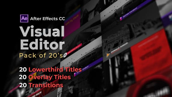 Download Visual Editor Pack Of 20s | After Effects Version – Videohive