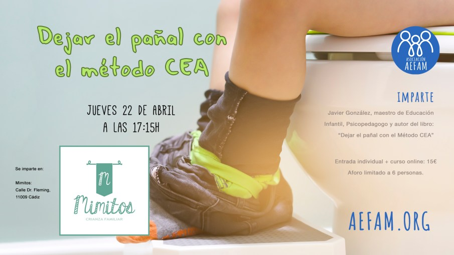 Taller sobre el control de esfínteres – 22 de Abril a las 17:15h en Mimitos (Cádiz)
