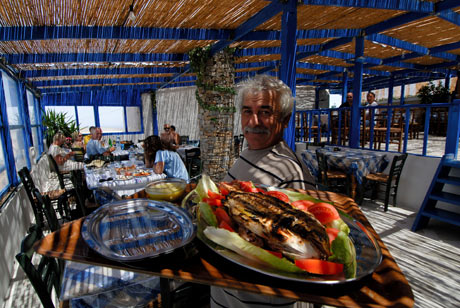 Fresh fish lunch at Panagia on Iraklia