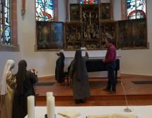 Kirche Orsoy mit Pfarrer Uwe Klein