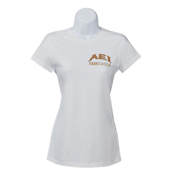 AEI Fabrication Shiner Womens T-Shirt In White