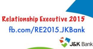 RE 2015 Jammu and Kashmir Bank
