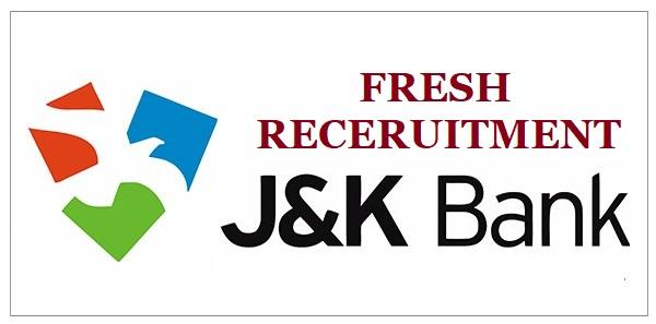 Jammu and Kashmir Bank Recruitment October 2021