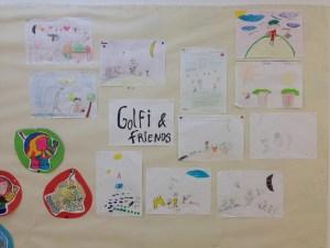 Cartaz dos aluinos sobre o projecto Golfi & Friends