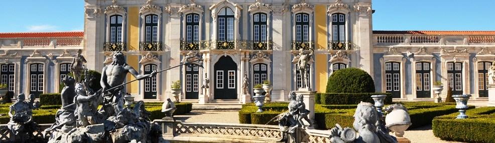 Fachada principal do Palácio Nacional de Queluz