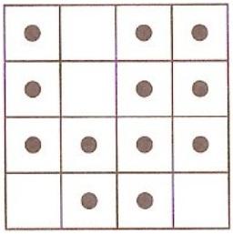 Quadrícula com 16 quadrados (4 por 4)