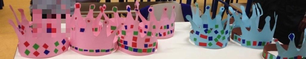 Coroas realizadas pelos alunos