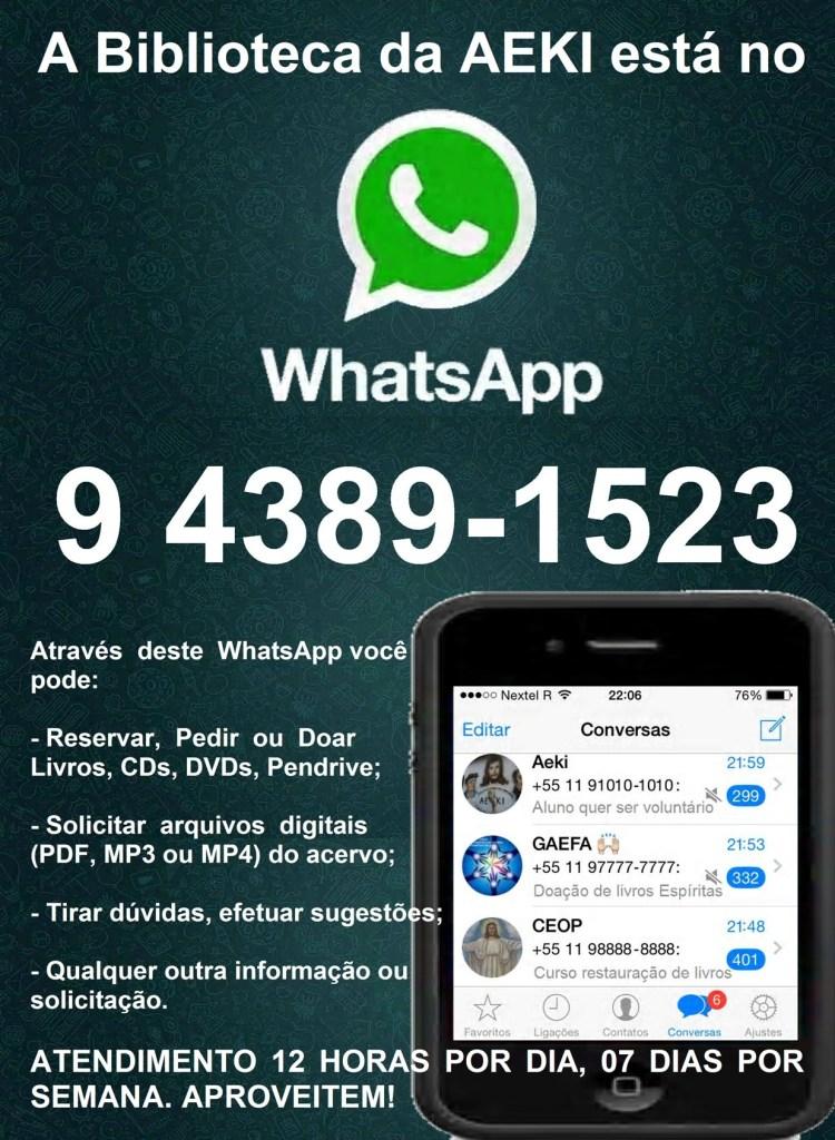 A Biblioteca da AEKI está no WhatsApp