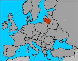 mapa europa con lituania