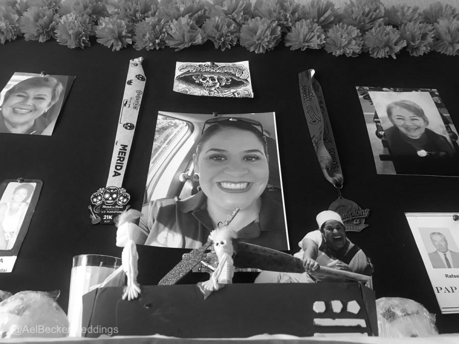 Honoring our lost loved ones. Altar de Muertos in Cancun. Ael Becker Weddings