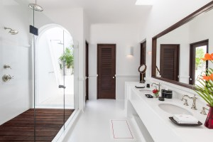 Hotel Esencia room bathroom. Riviera Maya, Mexico