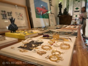 Golden earring, boutique shop at Hotel Esencia, Xpuha Beach, Mexico. Ael Becker Weddings